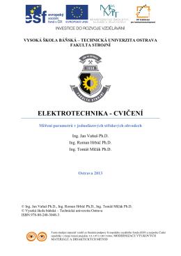 Elektrotechnika - cvičení 03 - Vysoká škola báňská