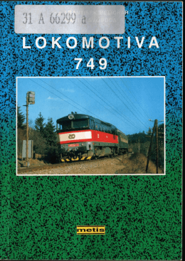 Brožura řada 749