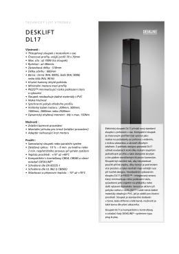 DESKLIFT DL17 - LINAK C&S sro