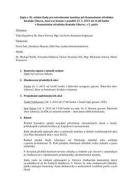 zápis z jednání 23. 3. 2015