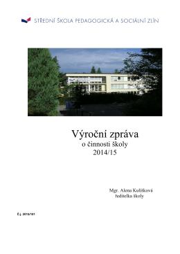 Výroční zpráva školy 2014 - Střední škola pedagogická a sociální