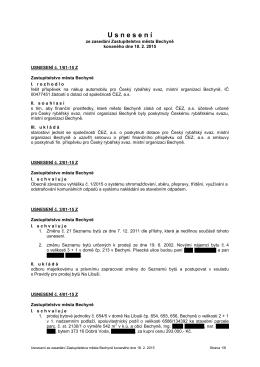 Usnesení z 1. zasedání ZM dne 18.2.2015