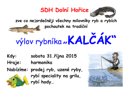 """výlov rybníka""""KALČÁK"""""""