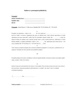 Smlouva o postoupení pohledávky - CAR