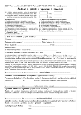 Přihláška - BEZPO Plzeň sro