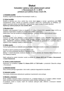Statut - Svaz vinařů ČR