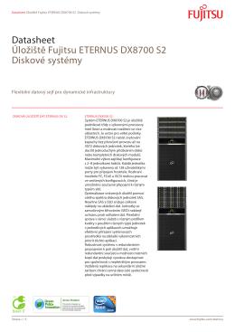 Datasheet Úložiště Fujitsu ETERNUS DX8700 S2 Diskové systémy