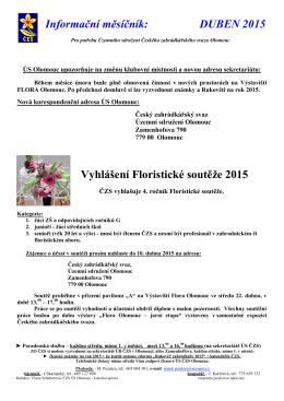 04/2015 - Český zahrádkářský svaz