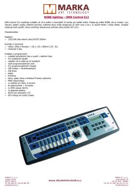 ROBE-DMX Control 512