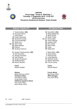 AC Sparta Praha Asteras Tripolis FC