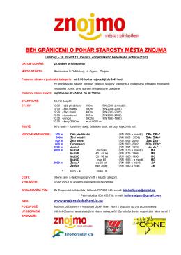 10.závod ZBP - Běh o pohár starosty - Znojemské běhání