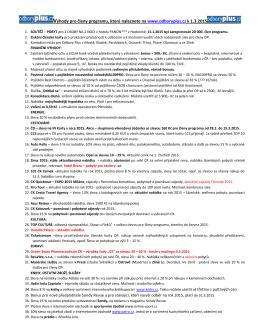 Výhody pro členy programu, které naleznete na www.odboryplus.cz