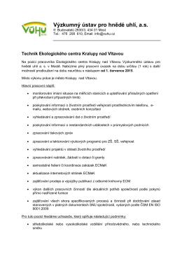 Výzkumný ústav pro hnědé uhlí, a.s.