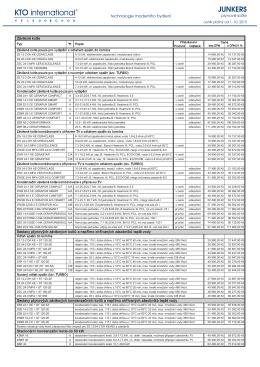 Junkers ceník 10-2015