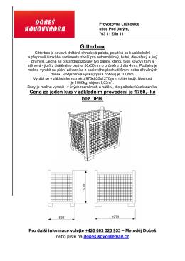 Gitterbox - Metoděj Dobeš