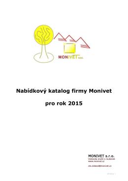 Nabídkový katalog firmy Monivet pro rok 2015