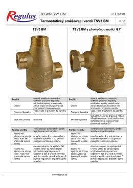 Termostatický směšovací ventil TSV3 BM