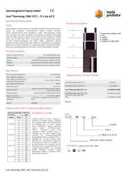 Samoregulační topný kabel Line™Samoreg 10W
