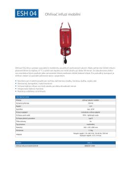 Ohřívač infuzní mobilní ESH 04