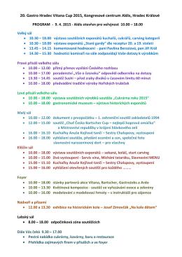 Program ke stažení - Gastro Hradec Vitana Cup 2016