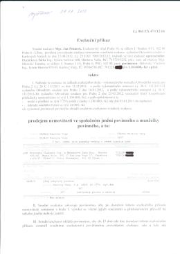 061 EX 470/12-66 Exekuční příkaz prodejem nemovitostí ve