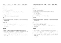 Elektronický stmívač R-RT 81, R-RT 81A, R