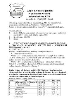 ZÁPIS č.3 Z JEDNÁNÍ VV KNS 2015