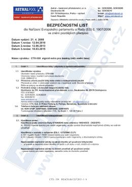 CTX-530 algicid extra pro bazény (ničí vodní řasu)