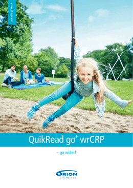 QuikRead go® wrCRP - Orion Diagnostica