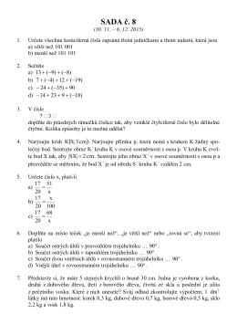 SADA č. 8