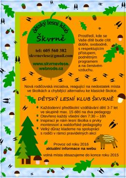 dětský lesní klub škvrně