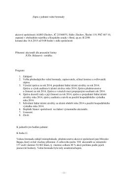 Zápis z valné hromady (datum zveřejnění 10-7
