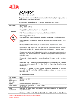 Acanto® - etiketa
