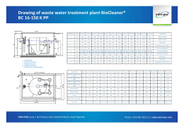 Drawing of waste water treatment plant BioCleaner - ENVI-PUR