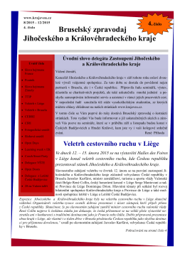4. číslo Bruselského zpravodaje, srpen 2015