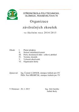 Organizace závěrečných zkoušek - Střední škola polytechnická