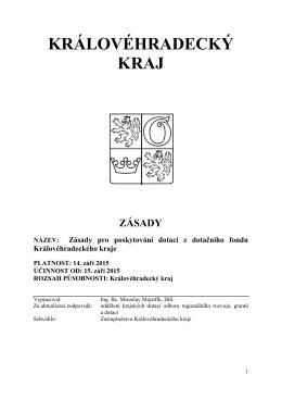 Zásady ke Statutu DF KHK 2015