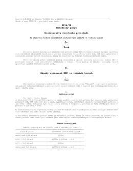 ZP16/98 Metodický pokyn Ministerstva životního prostředí A. Úvod B