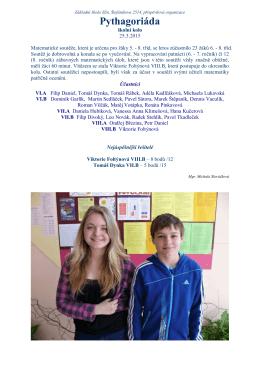 Pythagoriáda 6.-8.tříd