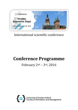 Program konference - Univerzita Hradec Králové