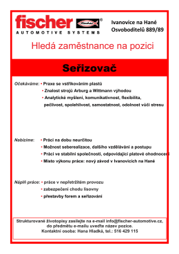 Seřizovač - fischer automotive systems