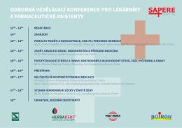 odborná vzdělávací konference pro lékárníky a farmaceutické