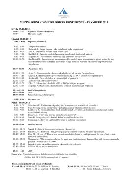 mezinárodní kosmetologická konference – frymburk 2015