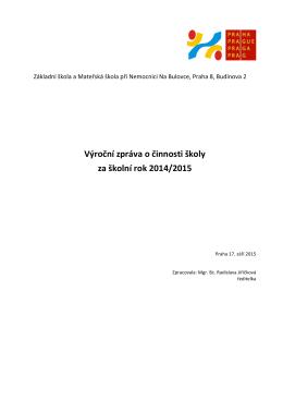 Výroční zpráva 2014/2015 - Základní a mateřská škola Bulovka