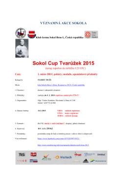 Sokol Cup Tvar Sokol Cup Tvarůžek 2015 ek 2015