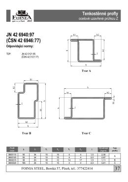 technický list - FOINIA Steel sro