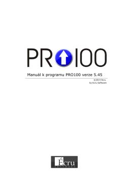 Manuál k progarmu PRO100