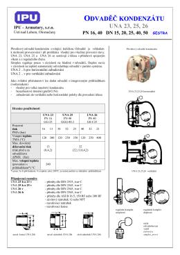 UNA 23, 25, 26 - IPU Armatury, sro