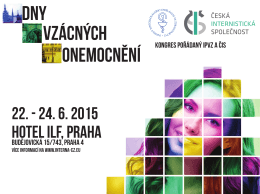 22. - 24. 6. 2015 HOTEL ILF, PRAHA