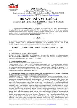 Dražební vyhláška DD290